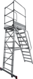 Mobile ladder with platform NV 8000030