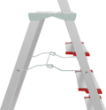 Aluminum stepladder with storage tray and large top platform for industrial use equipped with roomy storage tray for tools and stuff NV 5135 sku 5135108