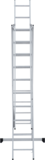 Three-section aluminium rung ladder NV 1230 sku 1230310