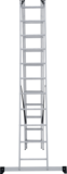 Three-section aluminium rung ladder NV 1230 sku 1230311