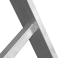 One-section aluminium professional rung ladder NV 3210