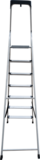 Aluminum 130 mm steps stepladder with storage tray NV 2118A