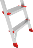 Professional aluminum stepladder with the storage tray and large top platform NV 3135 sku 3135106