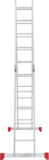 Multipurpose aluminium rung ladder NV 2320