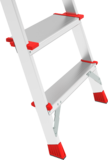 Aluminum stepladder with large safety barrier of 800 mm for industrial use NV 5136 sku 5136108