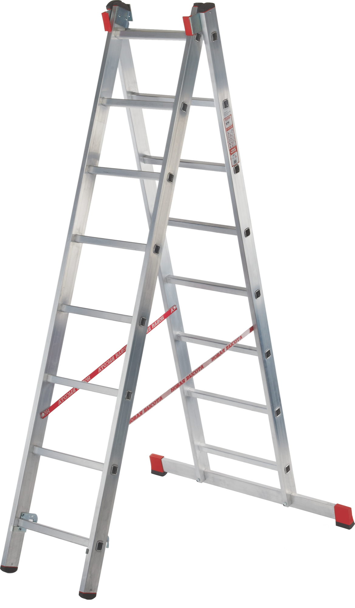 Two-section professional aluminium rung ladder NV 322