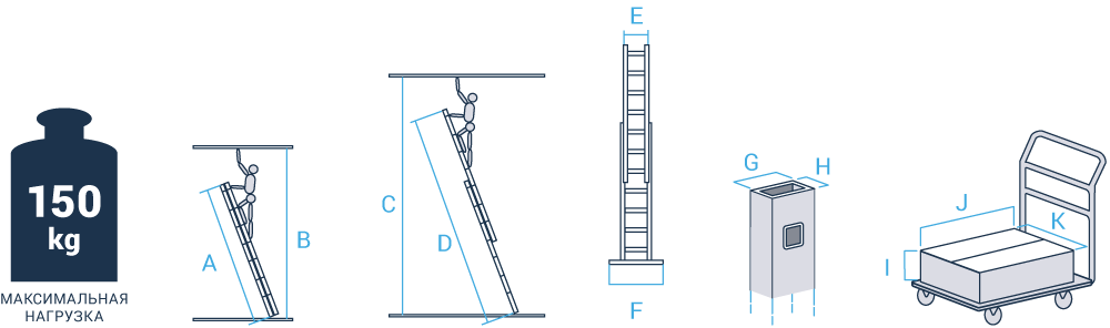 Schema: Two-section extension rung ladder NV 526