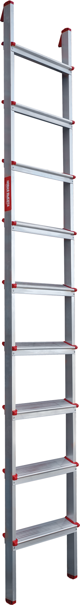 Single aluminium ladder with steps NV 3170